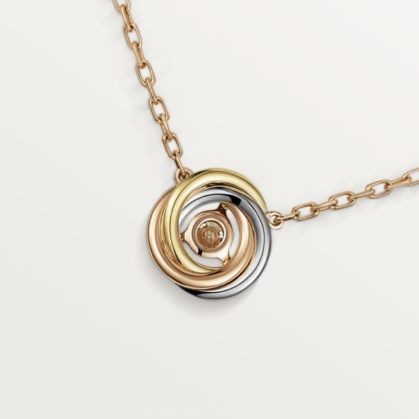 Trinity necklace White gold, yellow gold, rose gold, diamond
