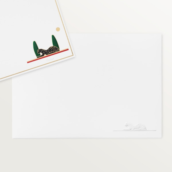 Panthère de Cartier stationery box set Lacquered wood, paper sourced from sustainably managed forests