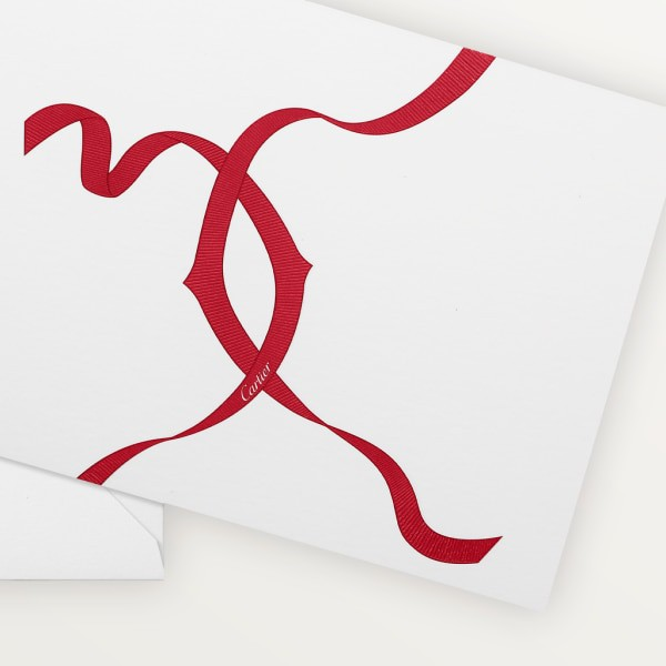 Entrelacés de Cartier cards and envelopes Paper sourced from sustainably managed forests