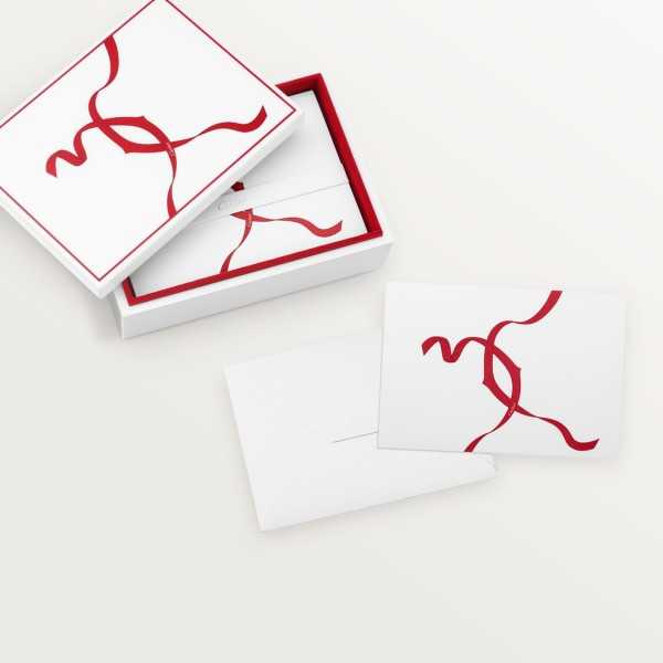Entrelacés de Cartier stationery box set Lacquered wood, paper sourced from sustainably managed forests