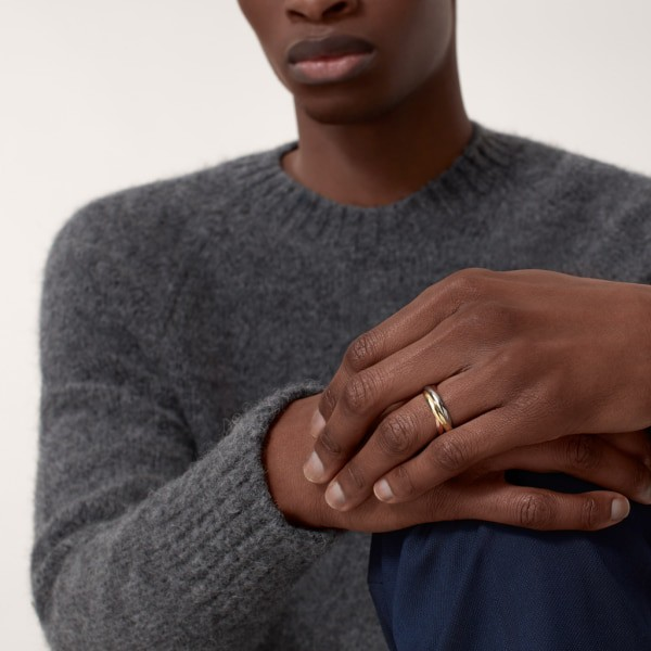 Trinity ring, small model White gold, yellow gold, rose gold