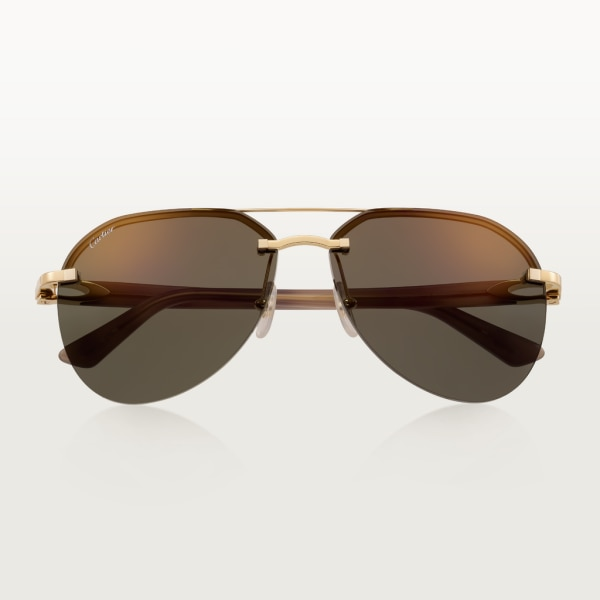 C Décor sunglasses Smooth golden-finish metal, gray lenses with golden flash