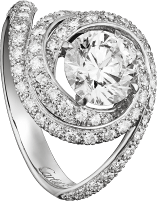 Trinity Ruban Solitaire Platinum, diamond