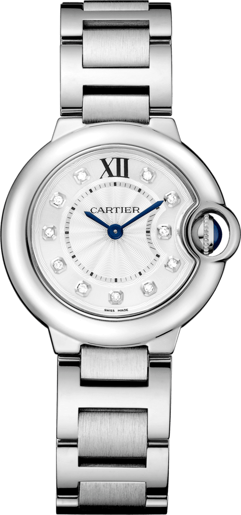 Ballon Bleu de Cartier watch28 mm, steel, diamonds