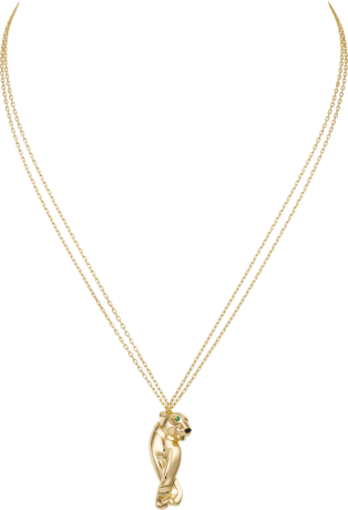 Panthère de Cartier necklace Yellow gold, tsavorite garnets, onyx
