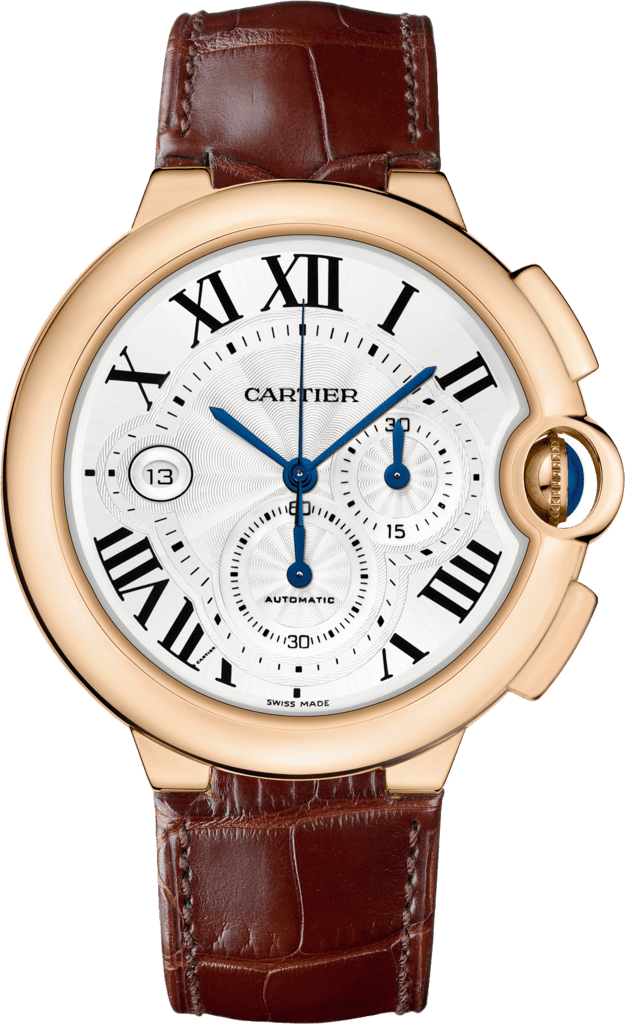 Ballon Bleu de Cartier watchXL, pink gold, leather