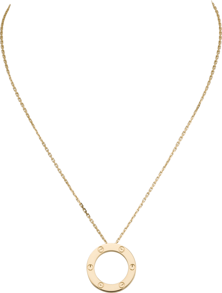 Love necklaceYellow gold