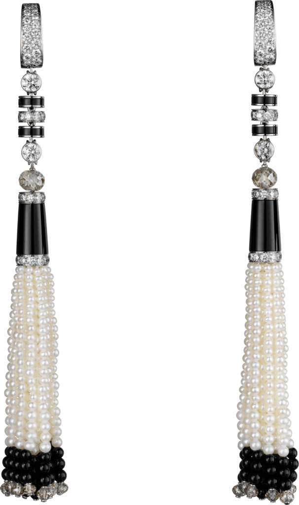 Panthère de Cartier earringsPlatinum, pearls, onyx, diamonds