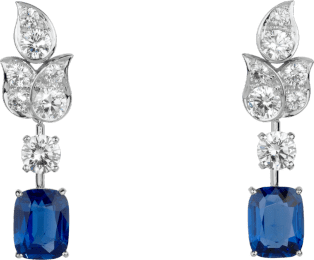 High Jewelry earrings Platinum, sapphires, diamonds