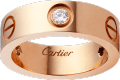 <span class='lovefont'>A </span> ring, 3 diamonds Rose gold, diamonds