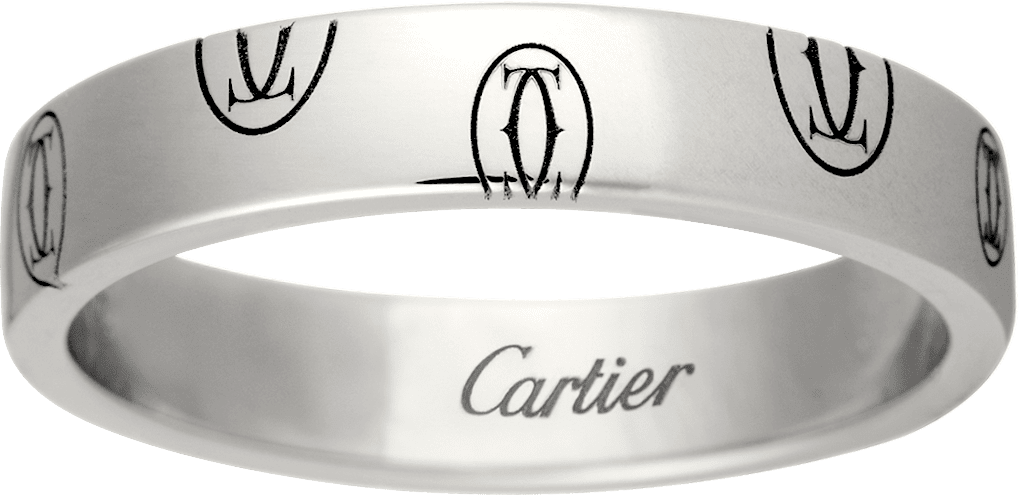 Logo de Cartier wedding bandWhite gold