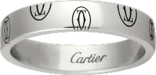 Logo de Cartier wedding band White gold