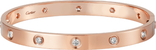 <span class='lovefont'>A </span> bracelet, 10 diamonds Pink gold, diamonds