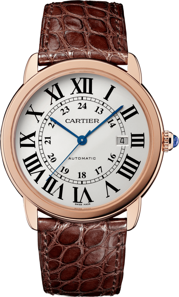 Ronde Solo de Cartier watch42mm, automatic movement, pink gold, steel, leather