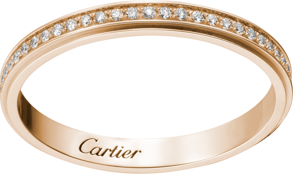 Cartier d'Amour wedding bandPink gold, diamonds