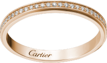 Cartier d'Amour wedding band Pink gold, diamonds