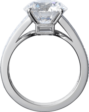 High Jewelry ring Platinum, diamonds