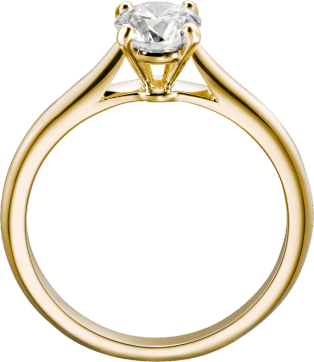 1895 solitaire ring Yellow gold, diamond