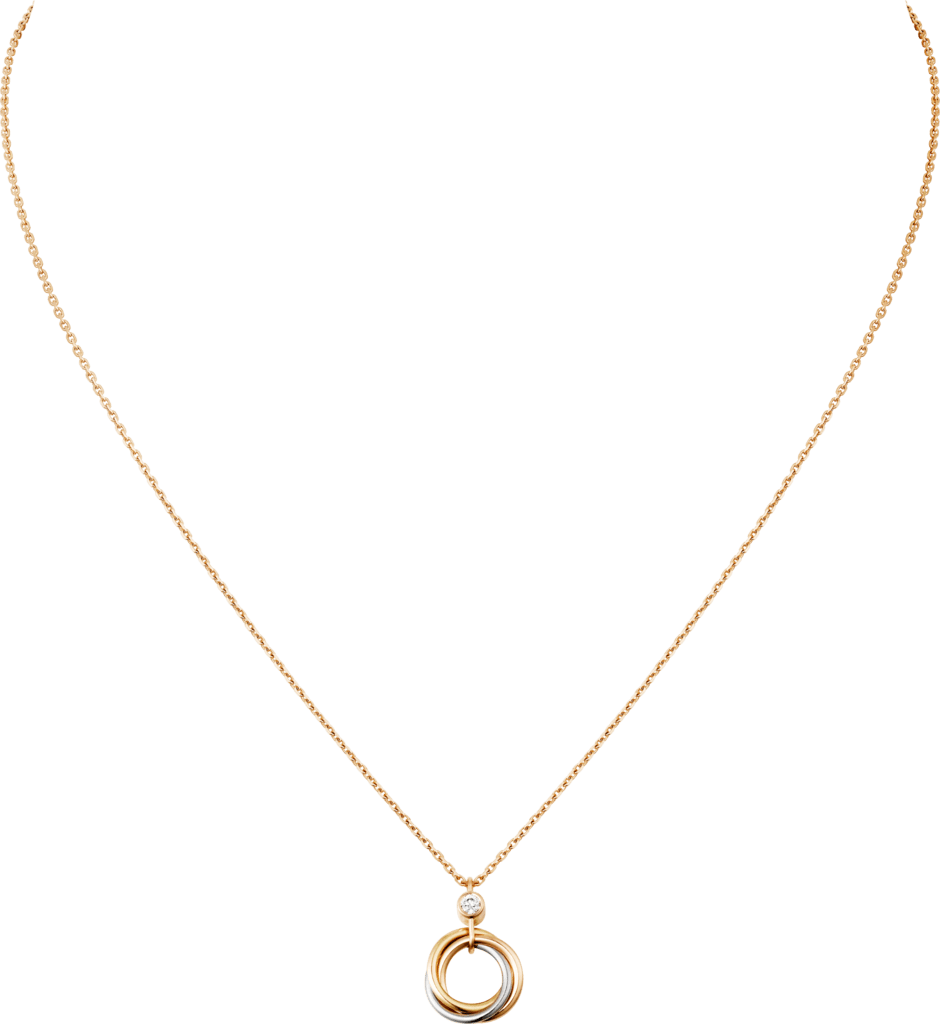 Trinity necklaceWhite gold, yellow gold, pink gold, diamond