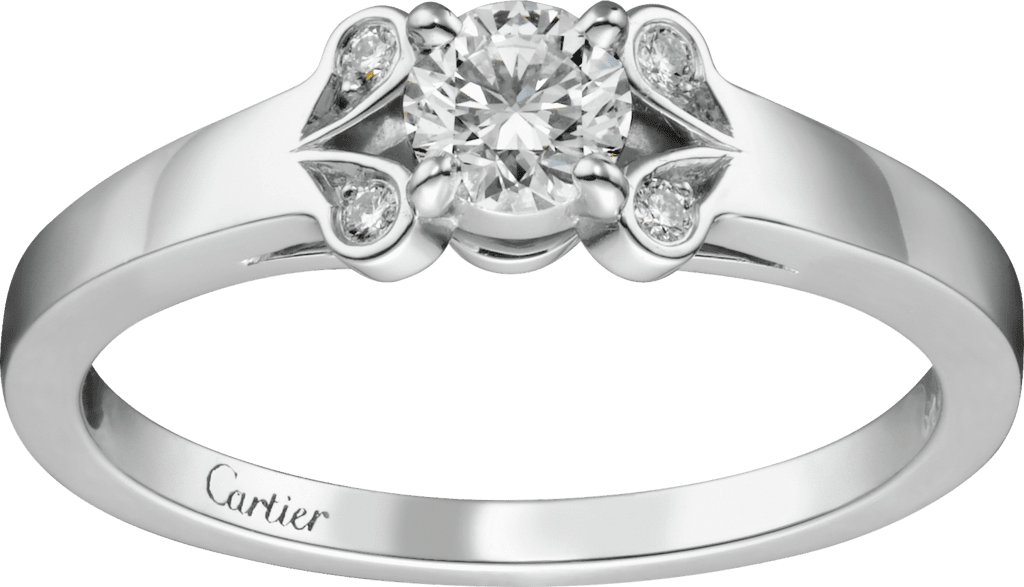 Ballerine SolitairePlatinum, diamond