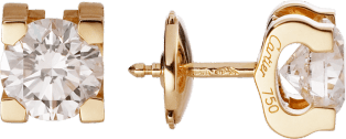 C de Cartier earrings Yellow gold, diamonds