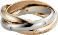 Trinity ring White gold, yellow gold, rose gold, diamonds