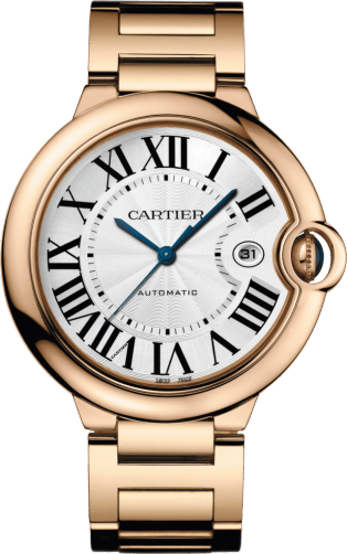 Ballon Bleu de Cartier watch 42 mm, 18K pink gold, sapphire