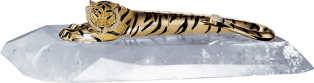 Tiger décor pen Solid yellow gold