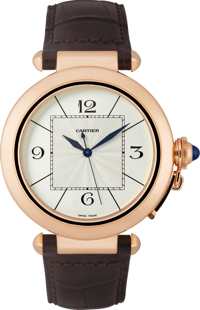 Pasha 42 mm watch42 mm, rose gold, leather