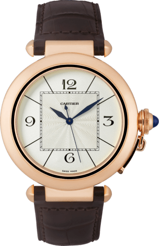 Pasha 42 mm watch 42 mm, rose gold, leather