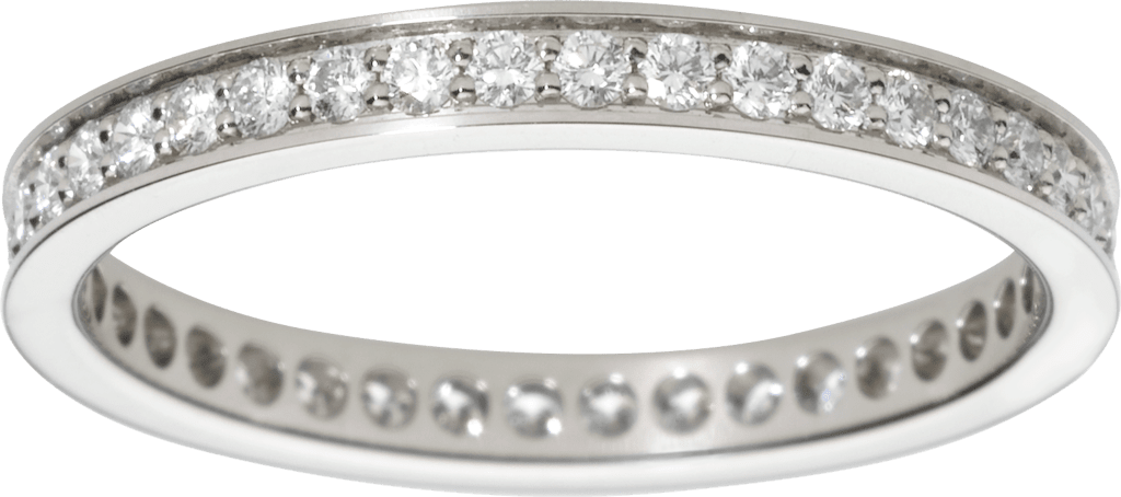 Ballerine wedding bandPlatinum, diamonds