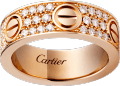 <span class='lovefont'>A </span> ring, diamond-paved Rose gold, diamonds