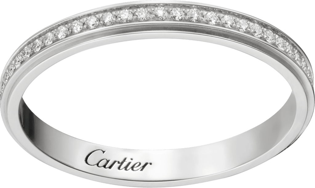 Cartier d'Amour wedding bandPlatinum, diamonds