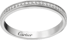 Cartier d'Amour wedding band Platinum, diamonds