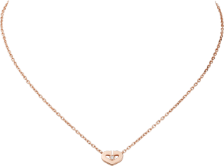 Symbols necklace Pink gold, diamonds