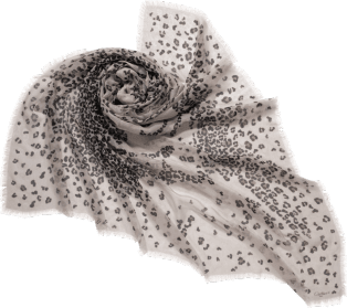 Panther-spot motif shawl Beige cashmere and silk
