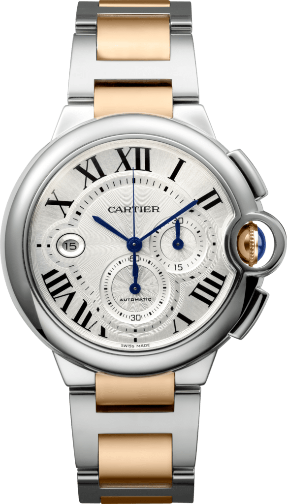 Ballon Bleu de Cartier watchXL model, 18K pink gold, steel