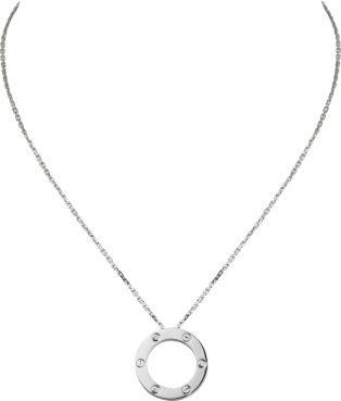 Love necklace, 3 diamonds White gold, diamonds