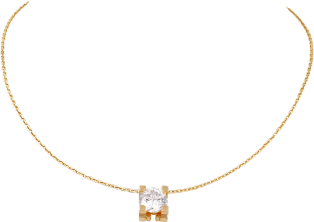 C de Cartier necklace Yellow gold, diamond