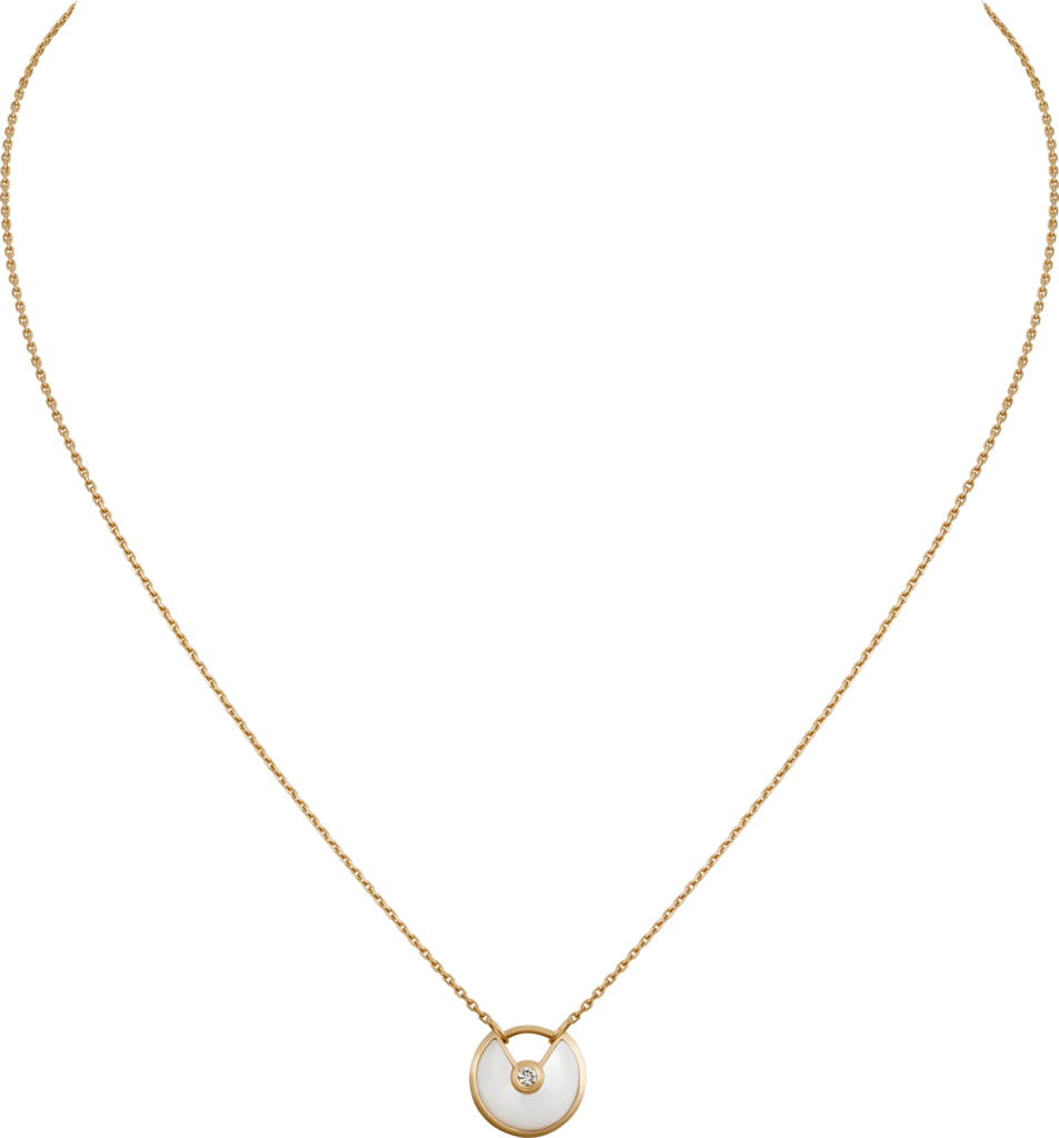 Amulette de Cartier necklace, XS modelYellow gold, diamonds, white mother-of-pearl