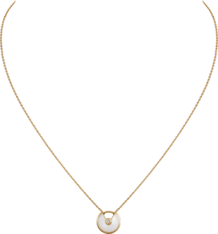 Amulette de Cartier necklace, XS model Yellow gold, diamonds, white mother-of-pearl