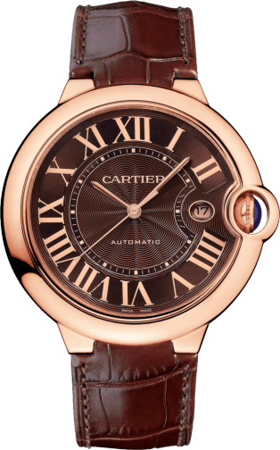 Ballon Bleu de Cartier watch 42 mm, pink gold