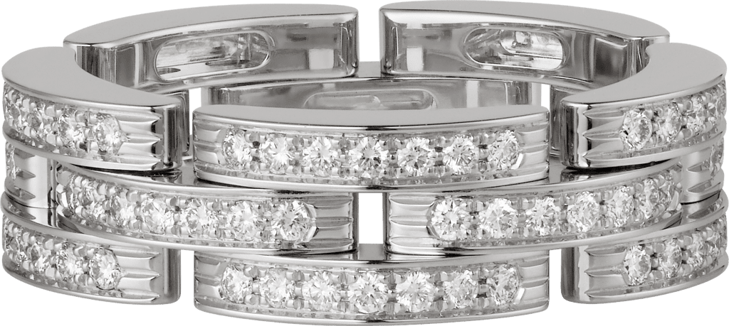 Maillon Panthère ringWhite gold, diamonds