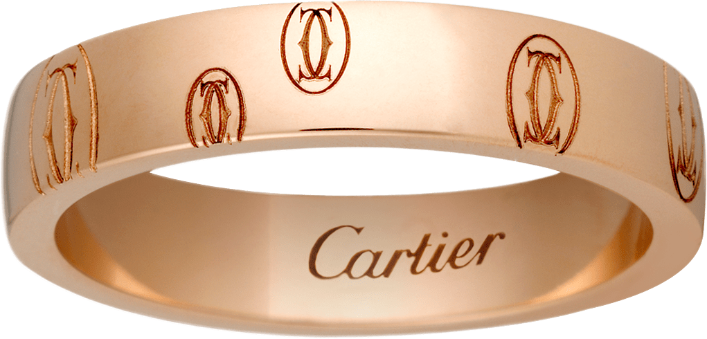 Logo de Cartier wedding bandPink gold