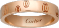 Logo de Cartier wedding band Pink gold