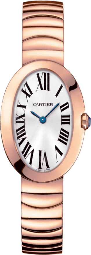 Baignoire watch, small model Small model, pink gold