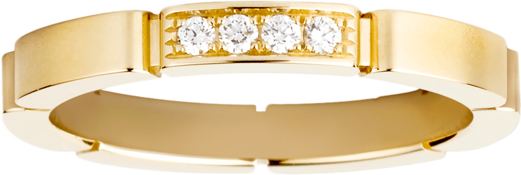 Maillon Panthère wedding bandYellow gold, diamonds