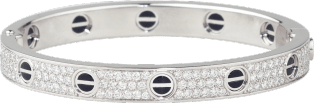 <span class='lovefont'>A </span> bracelet, diamond-paved, ceramic White gold, ceramic, diamonds