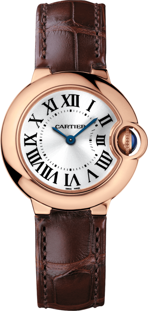 Ballon Bleu de Cartier watch28 mm, 18K pink gold, sapphire, leather
