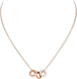 <span class='lovefont'>A </span> necklace, 6 diamonds Rose gold, white gold, diamonds